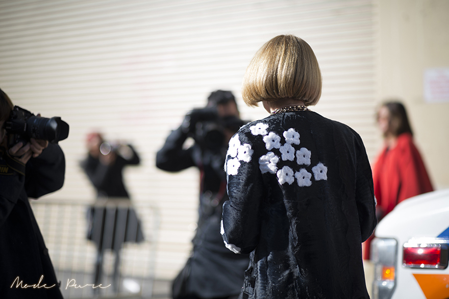 Anna Wintour | Prada coat | before Ralph Lauren | New York Fashion Week Fall/Winter 2013 | Feb 14, 2013.