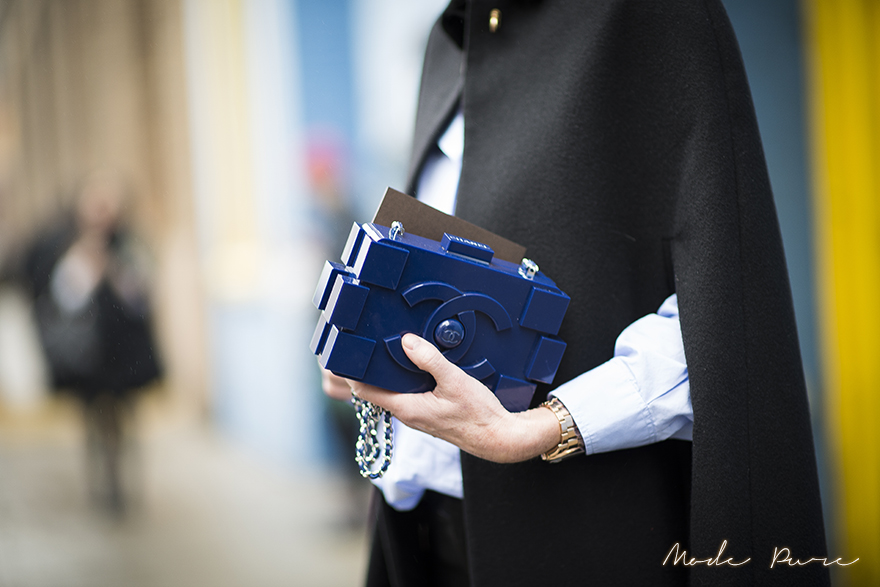 Annette Weber | Chanel clutch | before Donna Karen New York | New York Fashion Week Fall/Winter 2013 | Feb 11, 2013.