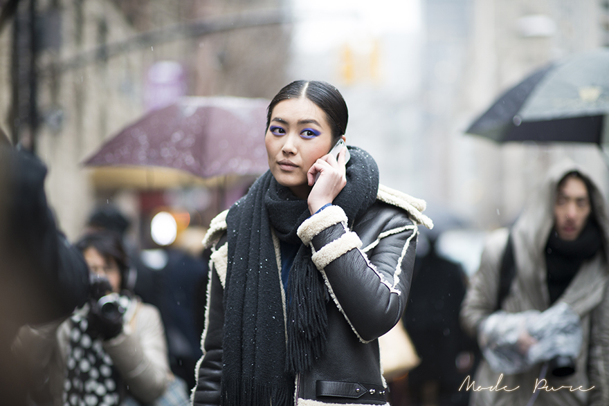 Liu Wen | after Jason Wu | New York Fashion Week Fall/Winter 2013 | Feb 8, 2013.