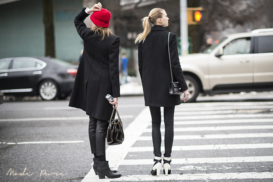 Bette Franke & Sigrid Agren | unknown | After Donna Karen New York | New York Fashion Week Fall/Winter 2013 | Feb 11, 2013.